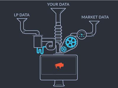 Bison Machine Large 03 machine technology financial tech bison info graphic data illustration