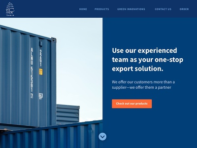 Export Services Landing Page shipping exporting landing page dailyui003
