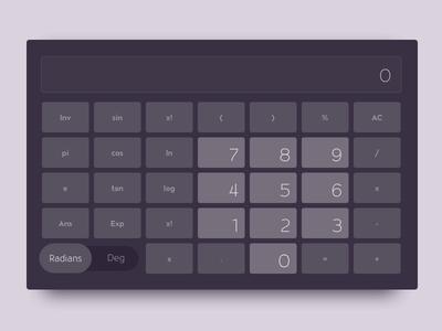 Calculator purple calculator dailyui dailyui004