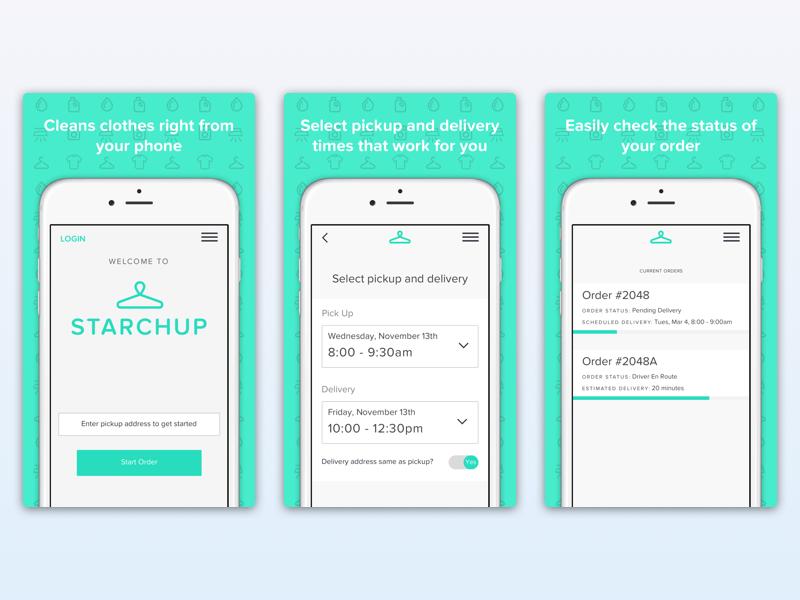 App Store Screenshots for Starchup walkthrough mobile ios app