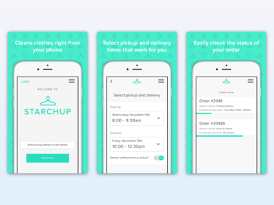App Store Screenshots for Starchup