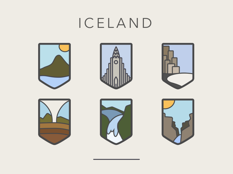 Iceland travel badge iceland