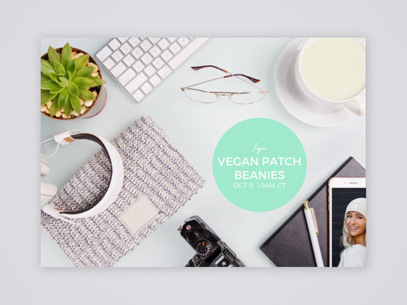 Love Your Melon Newsletter email beanie flat lay newsletter