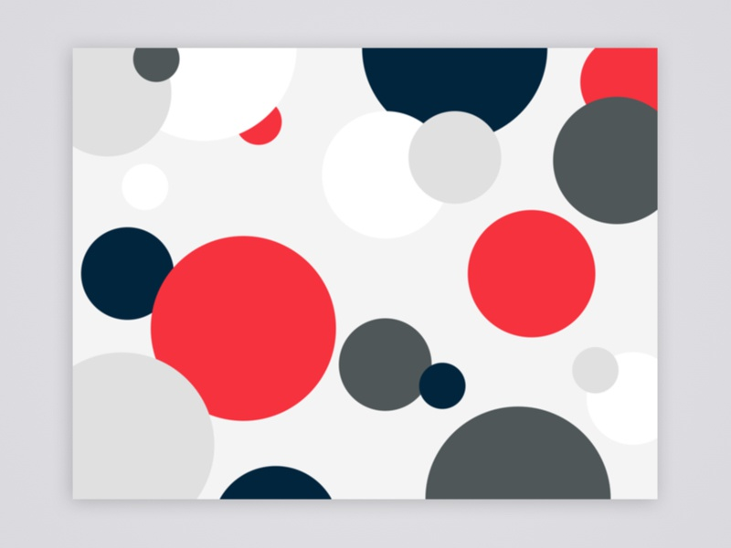 Back Cover of Brand Guidelines abstract pattern cover circles