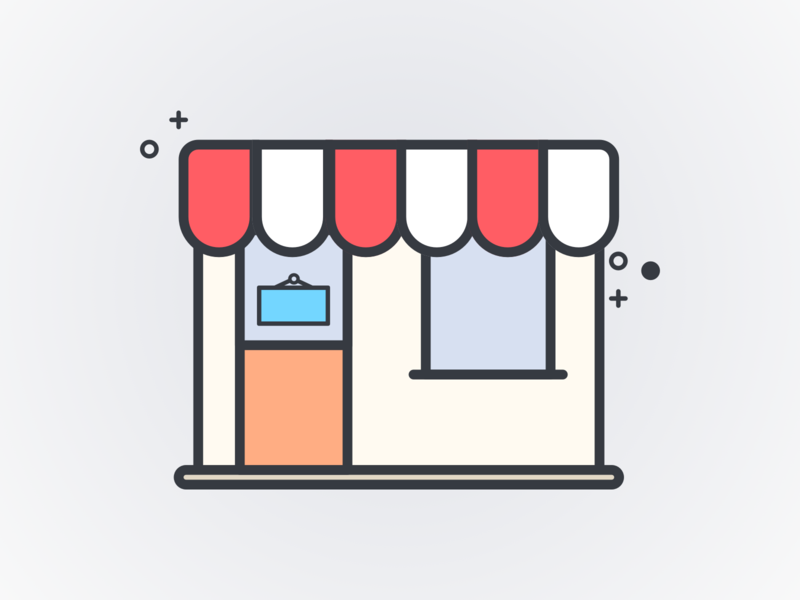 Small Business Saturday storefront store small business illustration icon