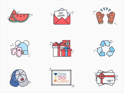 Cyber Monday Love Your Melon Icons