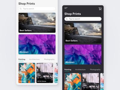 Artwork + Prints Shop