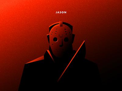 Jason dribbbleweeklywarmup illustration halloween jason voorhees friday the 13th