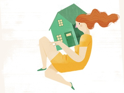 Woman house