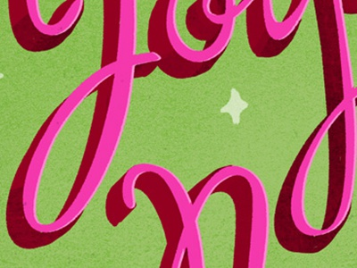 Pink Lettering lettering type hand lettering texture typography