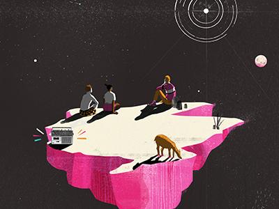 Ziggy Stardust ziggy stardust ziggy starman illustration dwpdx portland designweekportland planet art poster posterart