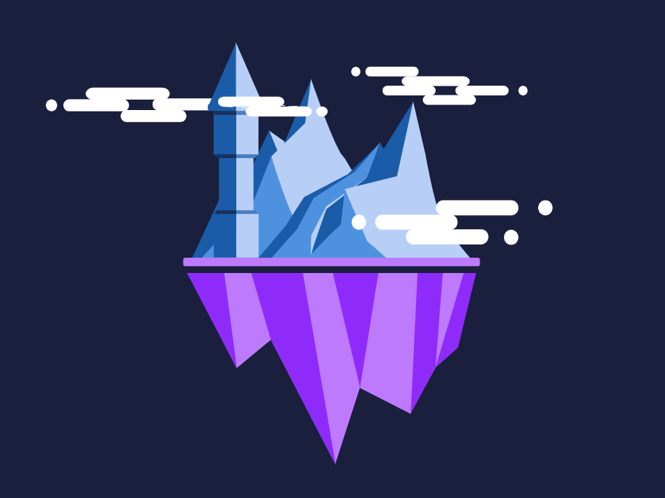 Floating Interactive SVG Castle by Tom Ulman on Dribbble