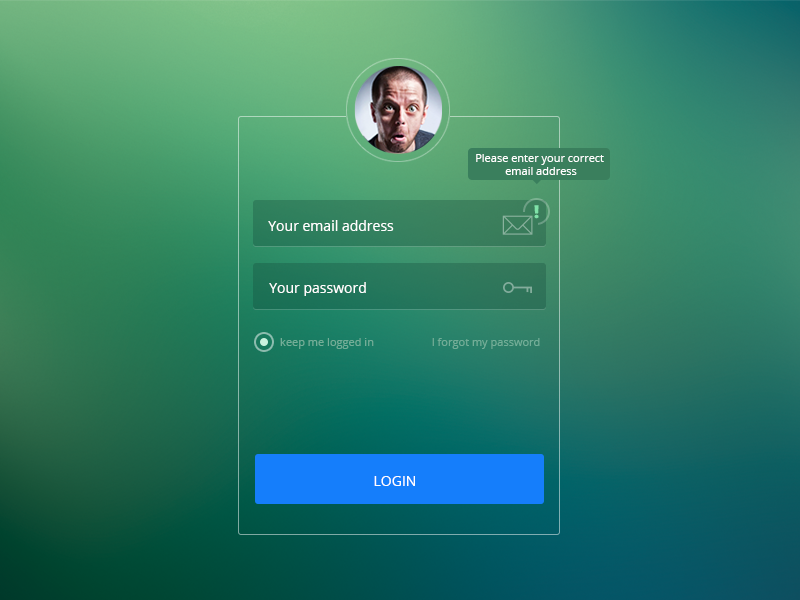 Login page design by Victor Constantinescu - Dribbble