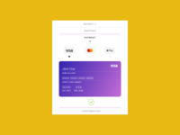 Daily UI | 002 Credit Card Checkout