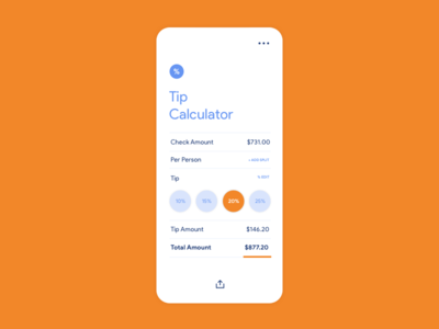 Daily UI | 004 Calculator