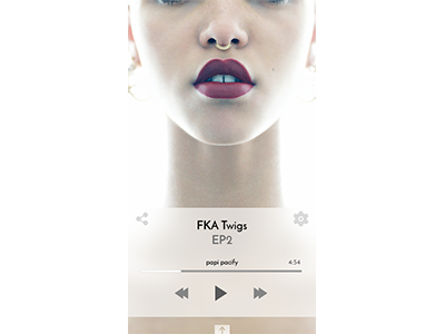 Spotify Concept music concept ux ui fka twigs