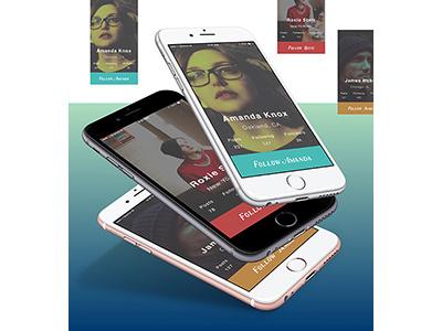 Social Media Concepts iphone ux ui social media