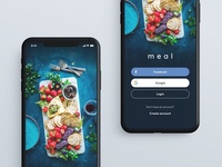 Splash and Login screen for Meal App