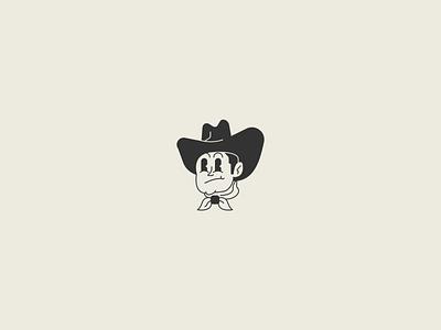 Cowboy cartoon 1930s cowboy hat cowboy western illustration identity badge brand branding logo