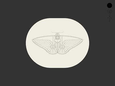 Moth tattoo traditional moth illustration identity badge brand branding logo