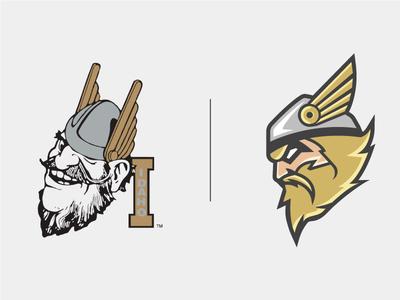 Vandal Logo Comparison vandal mascot sports logo branding idaho vandals concept rebrand football