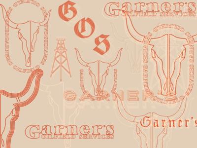 GOS Branding type skull logo branding badge