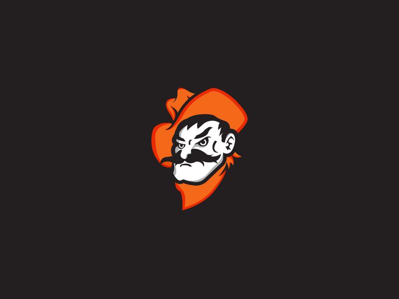 Pistol Pete cowboys pistol pete pistol oklahoma state identity concept brand rebrand mascot football sports branding logo