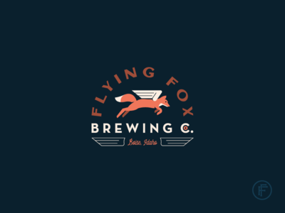 Flying Fox illustration brand identity identity brand branding concept craft beer fox logo fox wings wing badge logo badge logo mark logo
