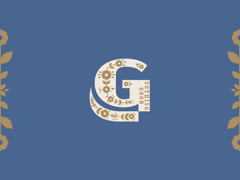 New Logo identity branding floral logo design brand scythe logo