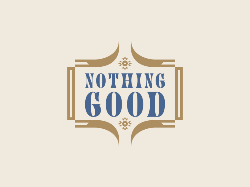 Nothing Good - Badge floral logotype scythe brand badge logo badgedesign badges badge