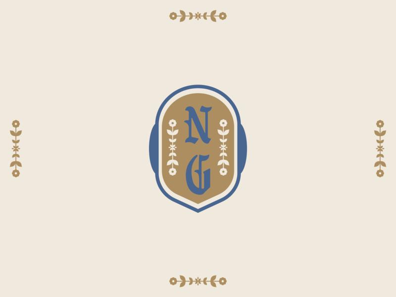 Badge - Still Not Good blackletter floral brand branding brand design logo badge design badge