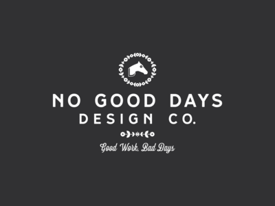 Motto typography self badge horse scythe identity floral design illustration brand branding logo