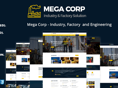 Industrial , Industry & Factory WordPress Theme