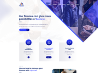 Finance - Business & Consulting PSD Template