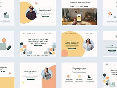 NEXT Screen Grid retirement design branding colour