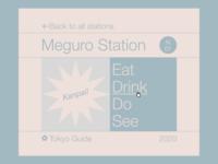 Tokyo City Guide - Meguro Station Navigation