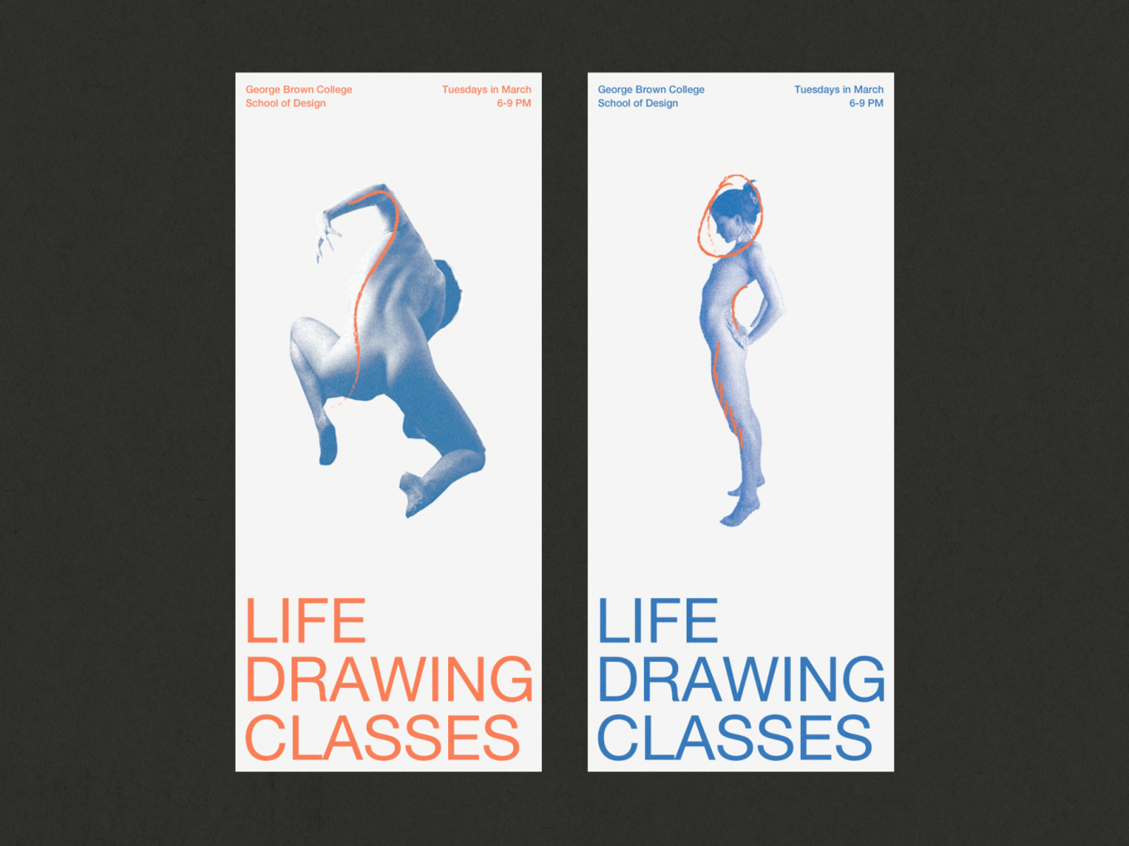 Life Drawing Poster Series by Polly D'Arcy on Dribbble