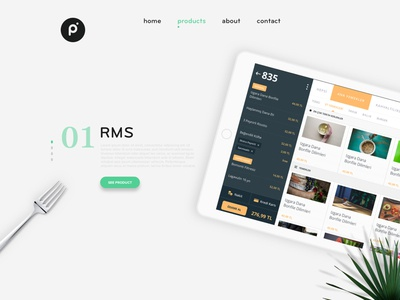 Homepage clear clean simple minimal flat landing design web ux ui protein