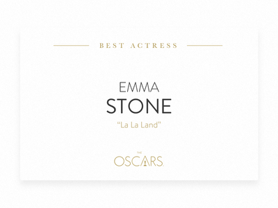 Academy Awards flat design card winning winner awards oscar