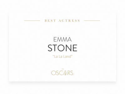 Academy Awards flat design card winning winner awards oscar