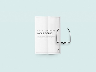 Poster Design clean motto simple minimal typograph print design poster flat