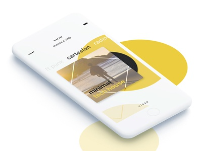 Choose a Vinyl record pure clean simple mobile ui ios music player vinyl vinly