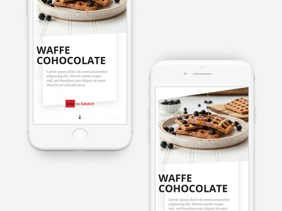 Food Product Detail Popup cart shop basket ux iphone interaction welcome product food popup ui design
