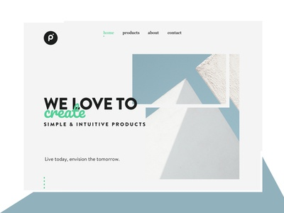 Protein Landing Page website web visual design ui simple product page minimalistic landing page clean