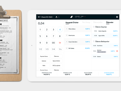 Point of Sale Checkout simple ux ui point of sale restaurant ipad pos checkout cart