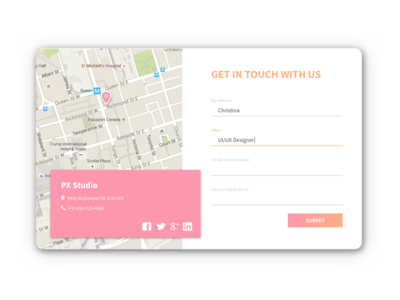 Daily UI #028 - Contact Us