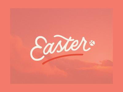 Easter 2019 design type script hand lettering easter