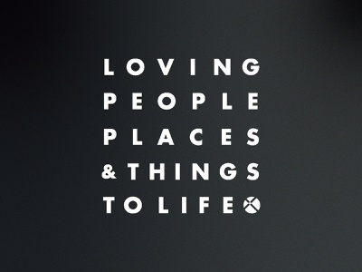 Loving People, Places & Things to Life lockup symmetry type christ presbyterian church nashville