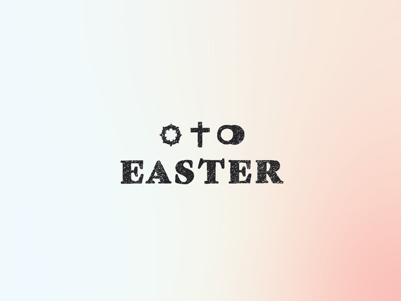 Easter icon gradient jesus spring april christ resurrection he is risen easter
