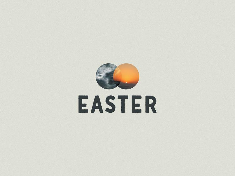Easter Concept - 2 overlap type resurrection christ easter